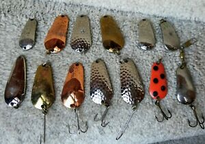 Vintage Fishing Spoons Fishing Lure Lot of 13 Luhr Jensen Spoon Lures