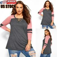 Women's Long Sleeve Loose Tunic Tops Shirt Ladies Casual Pullover Blouse Jumper
