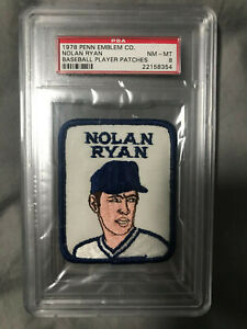 NOLAN RYAN ANGELS 1978-1979 Penn Emblem Baseball Player Patch Set Break PSA 8