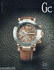 PUBLICITE ADVERTISING 115  2009  GC  montre  chrono  GC-1