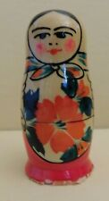 """Rare Collectible Vintage Nesting Doll 3"""" Tall Ussr Label"""