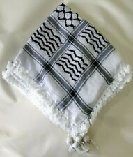 Black & White Palestinian Shemagh (scarf) Genuine/Original 100% Cotton Guranteed