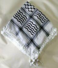 Black & White Palestinian Shemagh (scarf) Genuine/Original 100% Cotton Guranteed