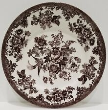 LOT OF (6) Royal Stafford Asiatic Pheasant Brown Dinner Plates GREAT CONDITION.