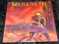 Megadeth Peace Sells....Sealed Vinyl Record Lp Album USA 1986 Orig Promo