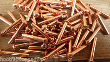 25 Remaches 3/40.6cm x 2.5cm 25mm cobre sólido cabeza redonda Modelo Ingeniero