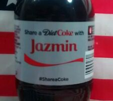 Share A Diet Coke With Jazmin Limited Edition Coca Cola Bottle 2015 USA