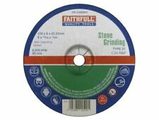 Faithfull - Disco per macine a pietra centrale depresso 230 x 6 x 22 mm