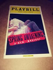 Spring Awakening Playbill Eugene O'Neill Theatre