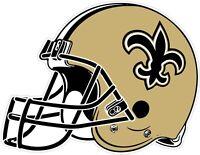 """New Orleans Saints Helmet NFL Vinyl Decal / Sticker Sizes 2""""-34"""""""