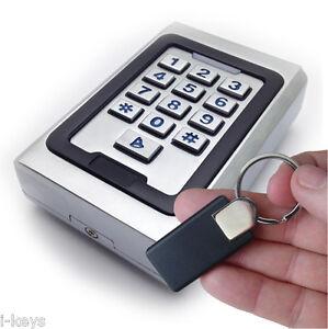 RFID- und PIN-Code-Schloss, Metallgehäuse mit Klingeltaste & Design-Transponder
