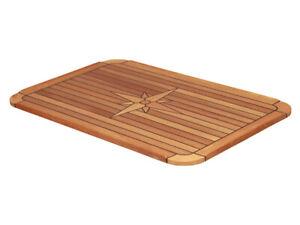 Teak Tischplatte  58x90 cm Bootstisch Boot Tisch Wohnmobil