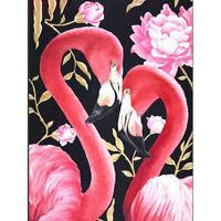 5D Full Drill Diamond Painting Cross Stitch Kits Flamingo Embroidery Art Murals