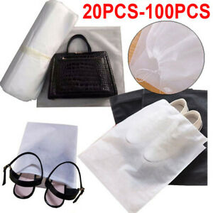 20-100X Portable Shoes Bag Travel Storage Pouch Drawstring Dust Bags Non-Woven