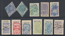 Argentina, Santa Fé, Forbin 3/491 used 1879-1911 Documents Fiscals, 11 different