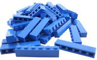 Lego 50 Stück blaue Steine 1x6 Stein in blau (3009) City Basics Bausteine Neu
