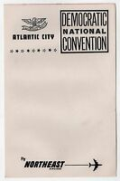 1964 DEMOCRATIC NATIONAL CONVENTION Stationery LBJ Johnson NORTHEAST AIRLINES