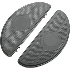 Black Half-Moon Floorboards For Harley-Davidson