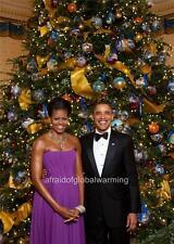 Old Photo. Barack & Michelle Obama on Christmas