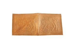 Genuine Leather Purse for Men Hand Embossed Work Camel Figure Money Wallet S6-17