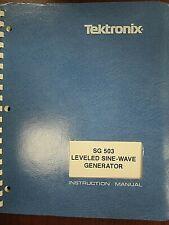 Tektronix Sg 503 Leveled Sine Wave Generator Instruction Manual Rev Oct 1983