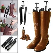 1 Pair Automatic Black Boot Shapers Stand Holder Shoe Tree Stretcher long