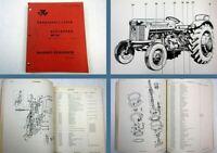 Massey Ferguson MF 65 Schlepper Traktor 1962 Ersatzteilkatalog Ersatzteilliste
