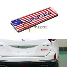 1X Metal American US Flag Rear Emblem Badge Sticker For Front Grille Side Fender