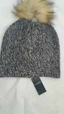 Ralph Lauren Womens Girls Metallic Faux Fur beanie skull cap hat nwt $45