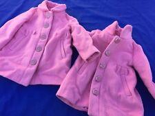 JOE FRESH WINTER LINED Dress Faux Wool GIRLS COAT SZ 1 Year Toddler 4 TWINS SET