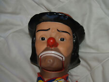 "VTG Emmet Kelly 30"" Ventriloquist Talking Clown Dummy Doll Juro Novelty Co. Inc"