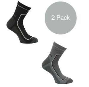 Regatta Mens 2 Pack Active Lifestyle Coolmax Anti-Bacterial Quick Dry Socks