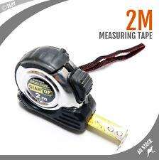 2M TAPE MEASURE SELF LOCK MEASURING TAPE METRIC HIGH UALITY STAINLESS STEEL