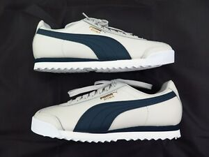 Size 4.5 PUMA Roma Men's Leather Sneaker Shoes Gray Blue Women's 6