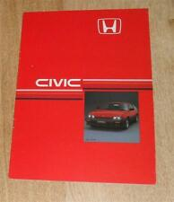 Honda Civic CRX Coupe Brochure 1985 1.5 12v