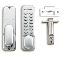 Securefast SBL320 Digital Code Lock with Easy Change Code and Holdback Silver