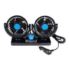 12V Car Fan Dual Heads Cooling Fan 2 Speed Auto Fan 360°Rotation Vehicle Fan