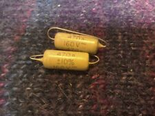 2 X  MULLARD MUSTARD 470n 160v NEW OLD STOCK BRITISH CAPACITORS