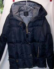 Navy Baby Phat Down Filled Puffer Coat Jacket Hood Medium Rare