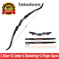 20lbs Archery Hunting Takedown Recurve Bow and Arrows Shooting Right Left Hand