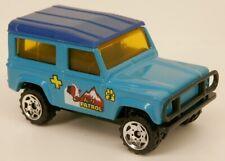 Matchbox Land Rover 90 Ninety Blue K-9 Patrol w/St Bernard Dog Pic 1:62 Scale