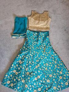 Asian indian pakistani lengha choli anarkali dress stunning beautiful anarkali