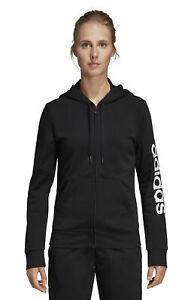 Adidas Core Women Fitness Hoody Essentials Linear Full Zip Hoodie Black