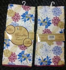 """Set of 2 same MICROFIBER Kitchen Towels (15"""" x 25"""") FLOWERS by BH"""