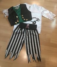 Pirate Fancy Dress Costume by Slimy Toad 8 Years Boys Or Girls