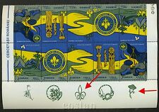 1997 Boy Scouts,Wooden Totem,Scoutisme,Hand,Romania,M.5281,Tete-beche,TAB/T2,MNH