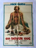 WHO'LL STOP THE RAIN 1980s Original Vintage Turkish Movie Poster RARE Nick Nolte