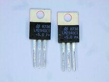 """LM2940CT-5.0  """"Original"""" National 5V Positive Voltage Regulatr  TO-220 IC  2 pcs"""