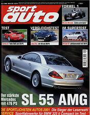 sport auto 1/02 2002 BMW 325ti M3 CSL Golf GTI Renault Clio RS Cougar V6 Carrera