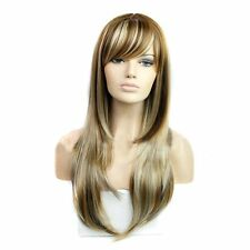 DENIYA Natural Long Straight Wigs with Bangs Blonde Wig for Women